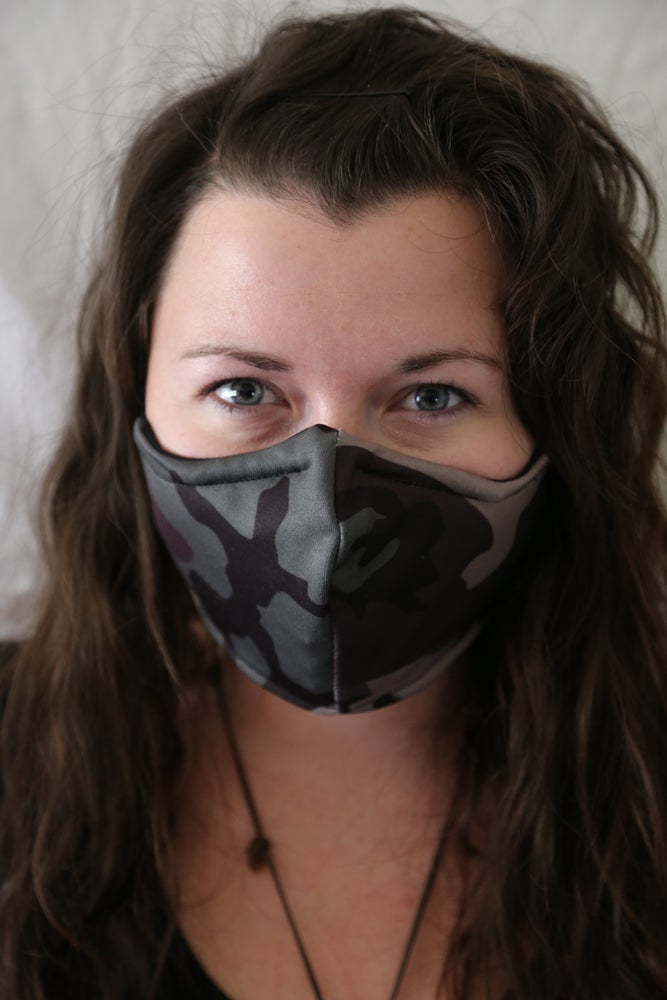 Image of Camo Locally Made Spandex/Cotton Mask