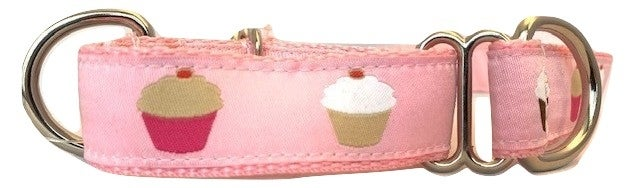 Cupcake Pink - Martingale Dog Collar