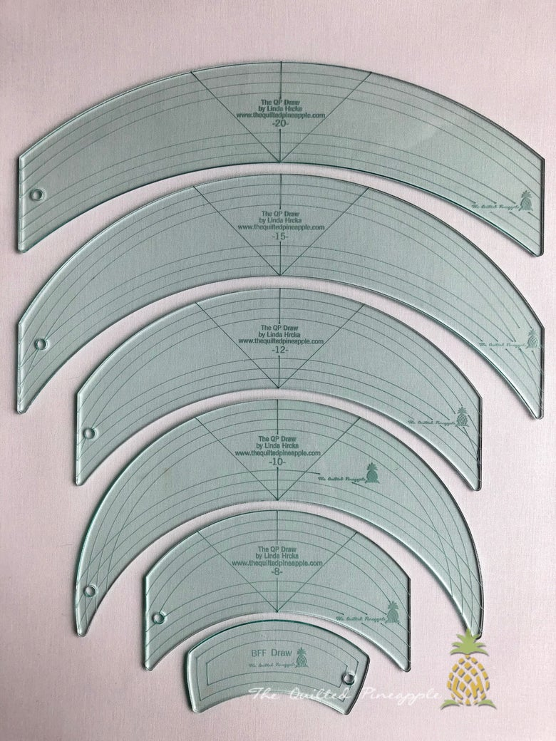 Image of Drawing Templates-Original 6 QP Curve Set 1/8""