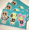 Retro Friends Stickers