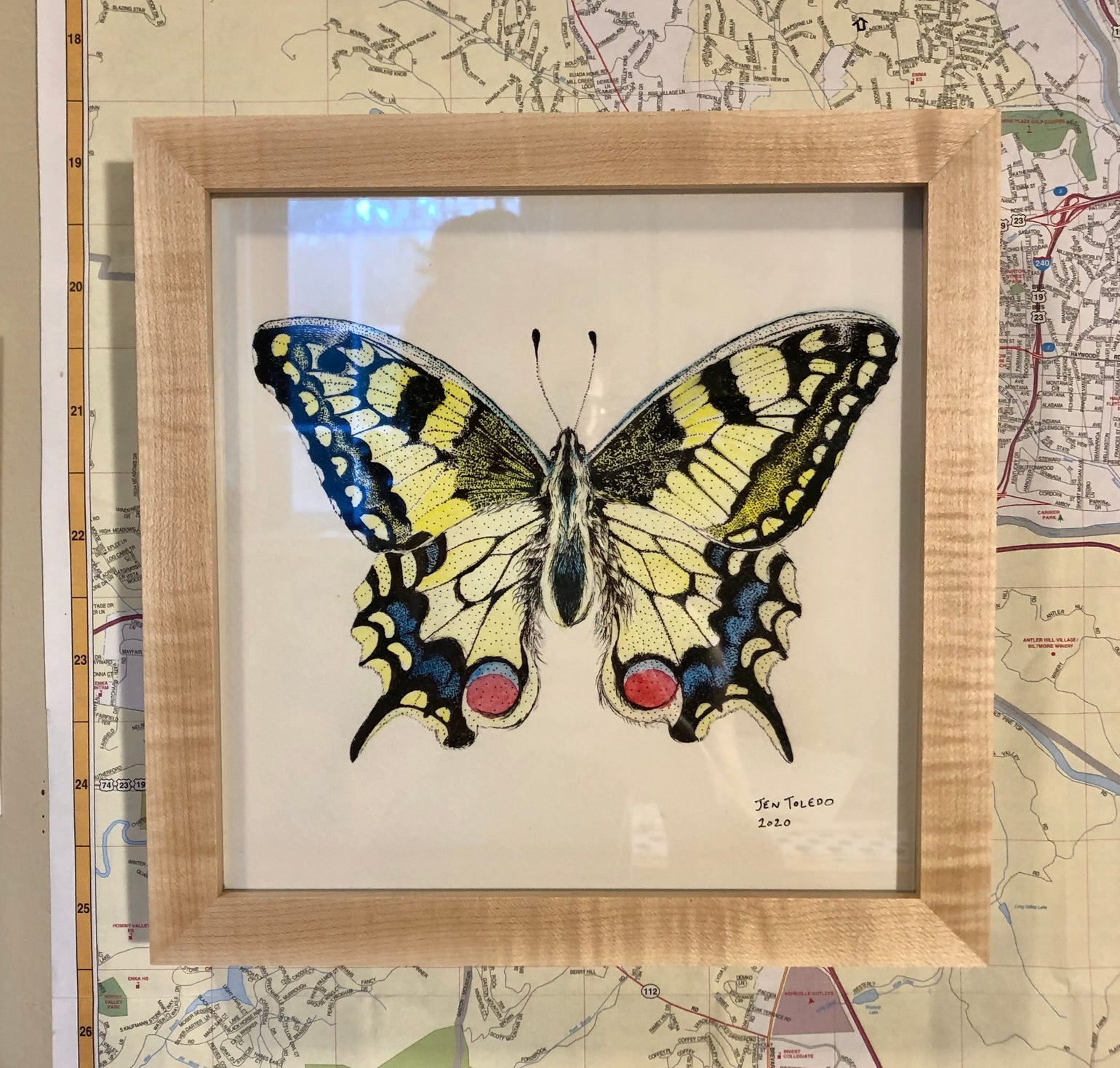 Image of Framed Swallowtail Print