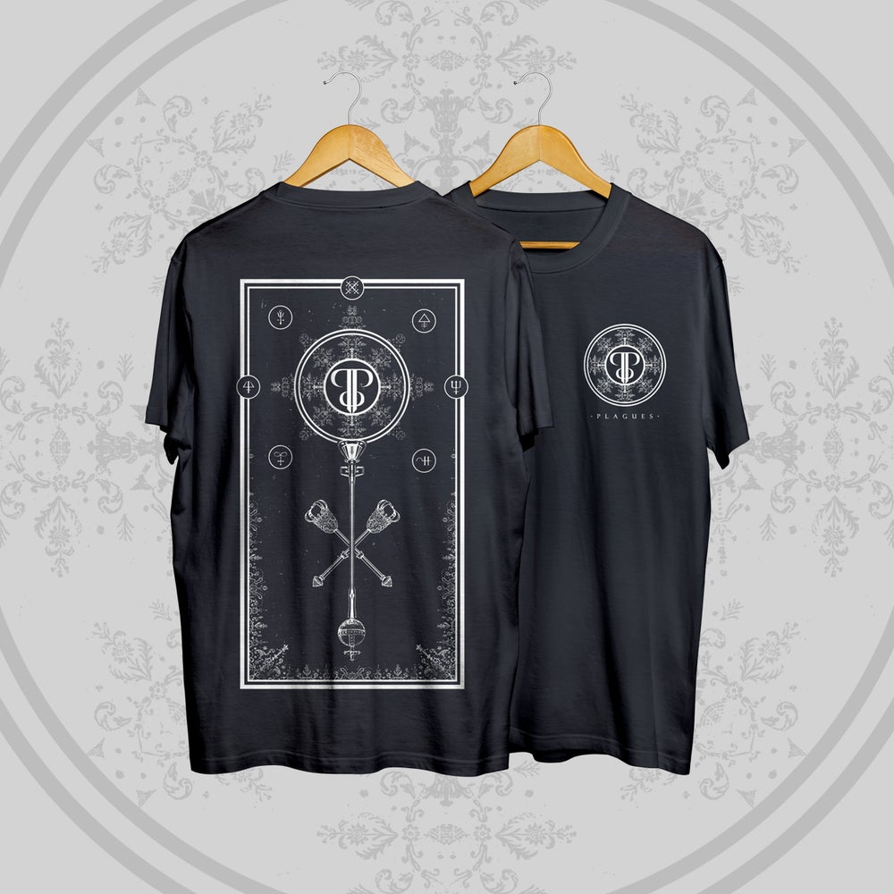 Image of Plagues - Sceptre Tee (Black)