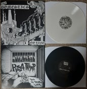 Image of THE DOMESTICS / PIZZATRAMP 'NO LIFE' / 'THIS IS YOUR LIFE' SPLIT 12""