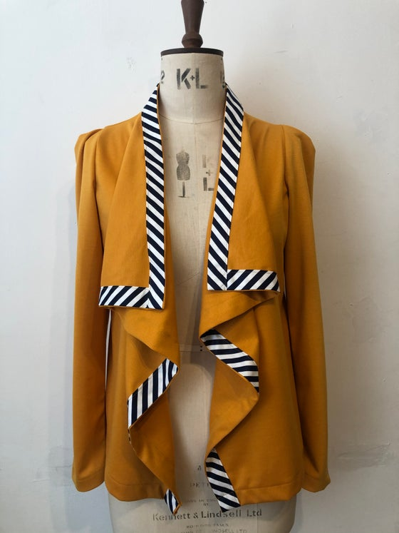 Image of Mustard waterfall cardi