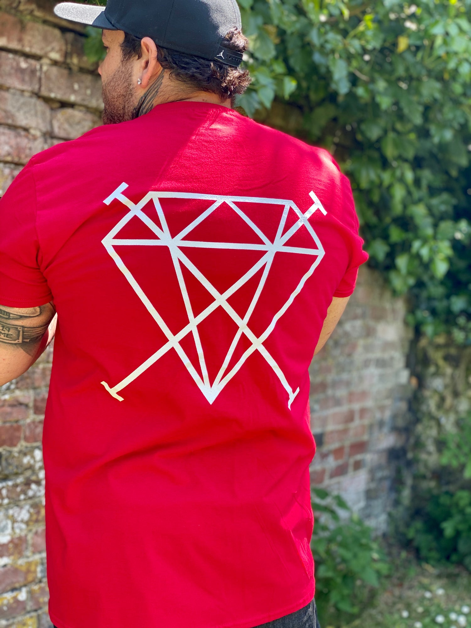 Image of OG DiamondCross Tee - Cherry Red