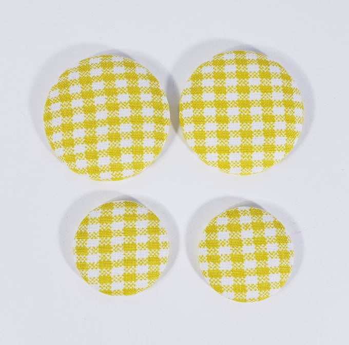 Image of Yellow Picnic Button Earrings