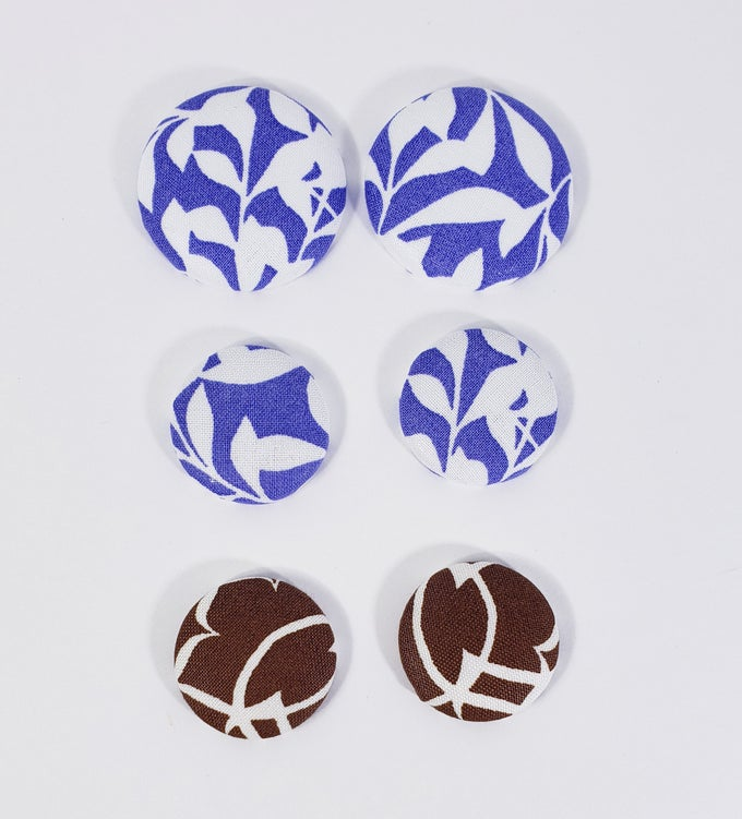 Image of Abstract Flower Button Earrings