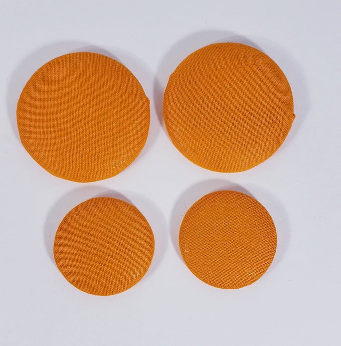 Image of Bright Orange Button Earrings