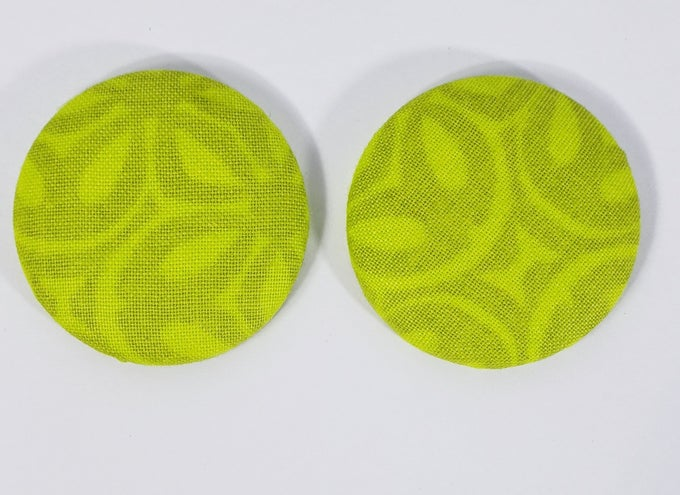 Image of Lime Green Button Earrings
