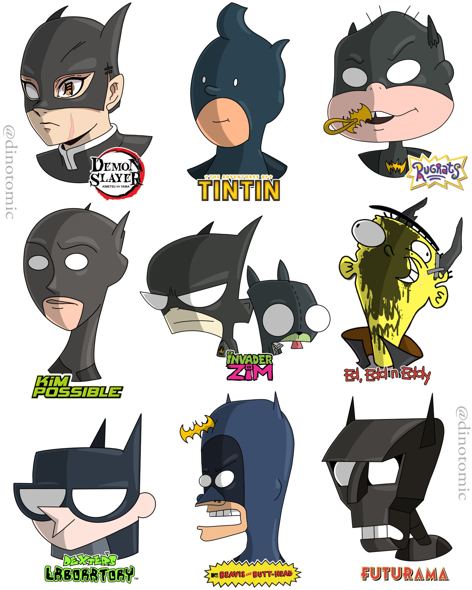 Image of #216 Batman ( part 4 ) drawn in 9styles