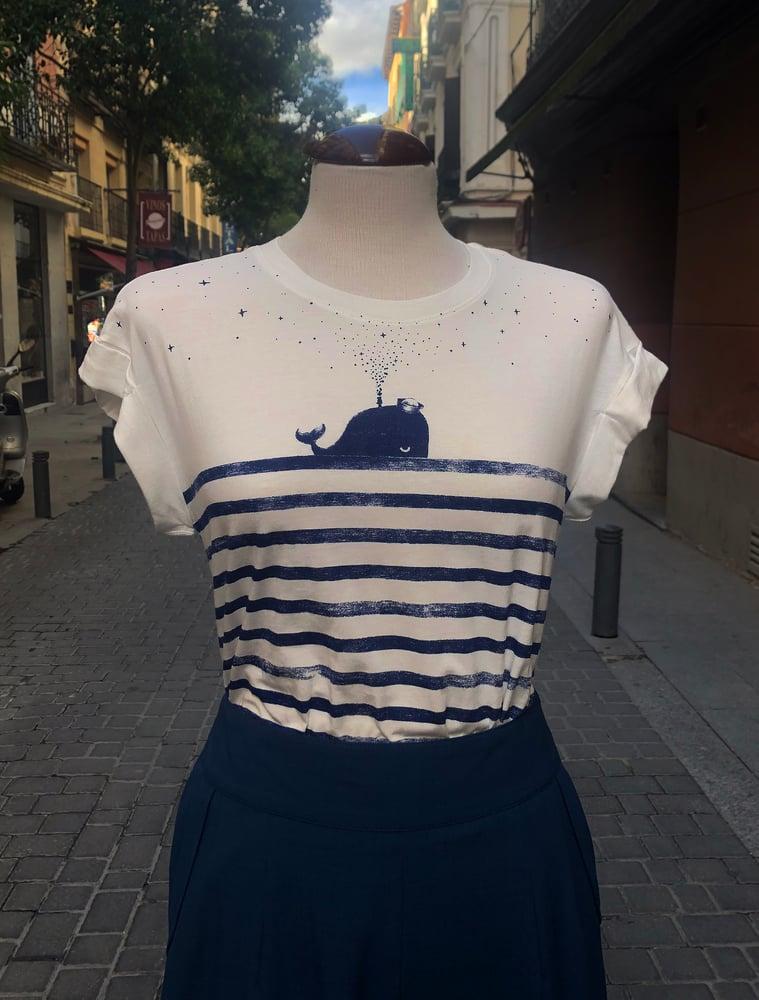 Image of Camiseta algodón ballena