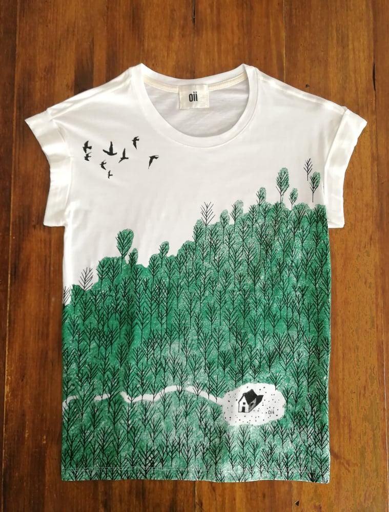 Image of Camiseta algodón bosque