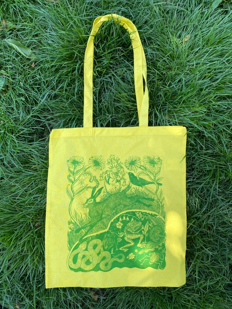 Image of All is pushing through tote bag