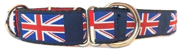 British Flag - Martingale Dog collar