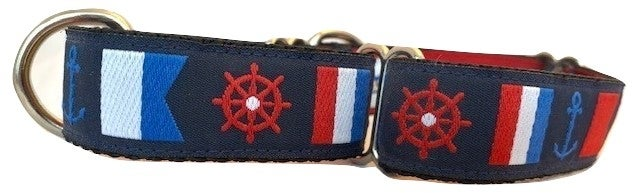 Nautical Flags - Martingale Dog Collar