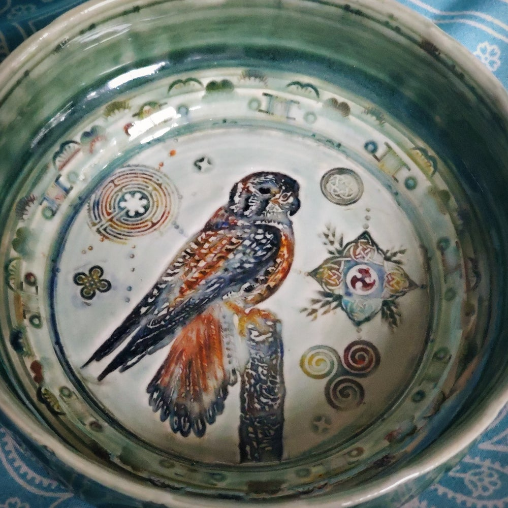 Image of Merlin Falcon Porcelain Dish