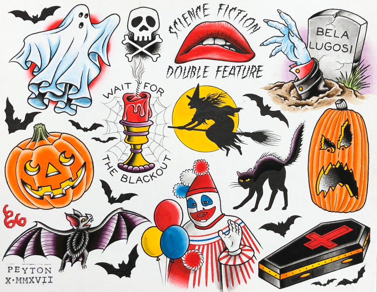 Halloween flash print