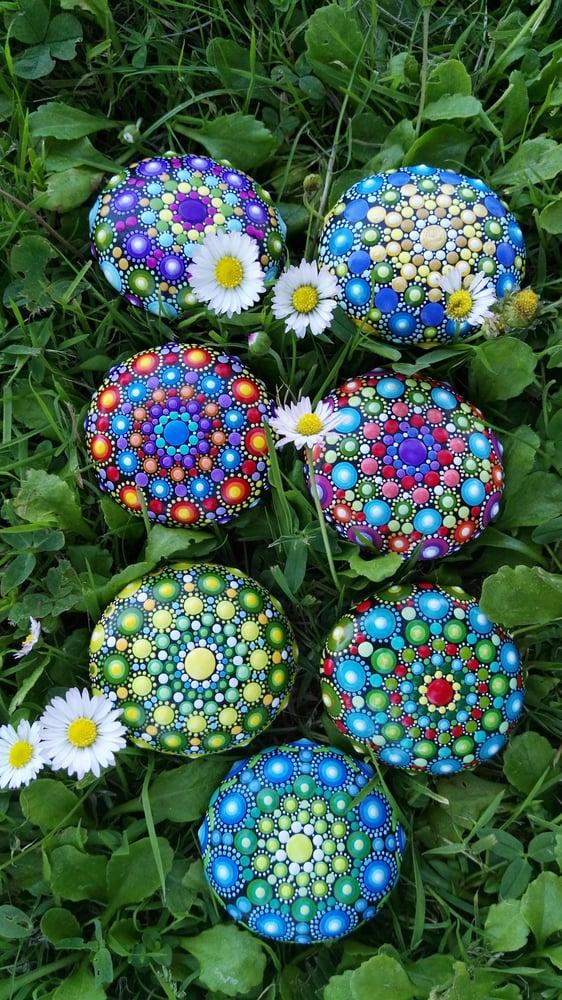 Image of Mandala stones fridge magnet 2020 by Alberto Martin (B)
