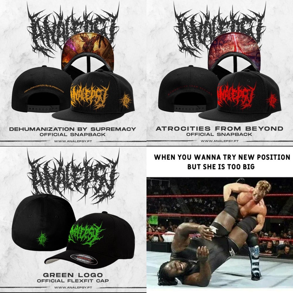 Image of *PREORDER* Officially Licensed Analepsy Underbrim print SnapBacks and Green Logo Flexfit Hats
