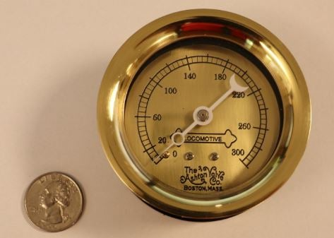 "Image of Large Scale 3"" dia 300PSI Locomotive Pressure Gauge"