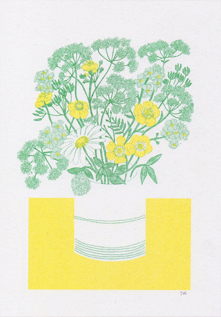 Image of Spring Flowers - Risograph Print