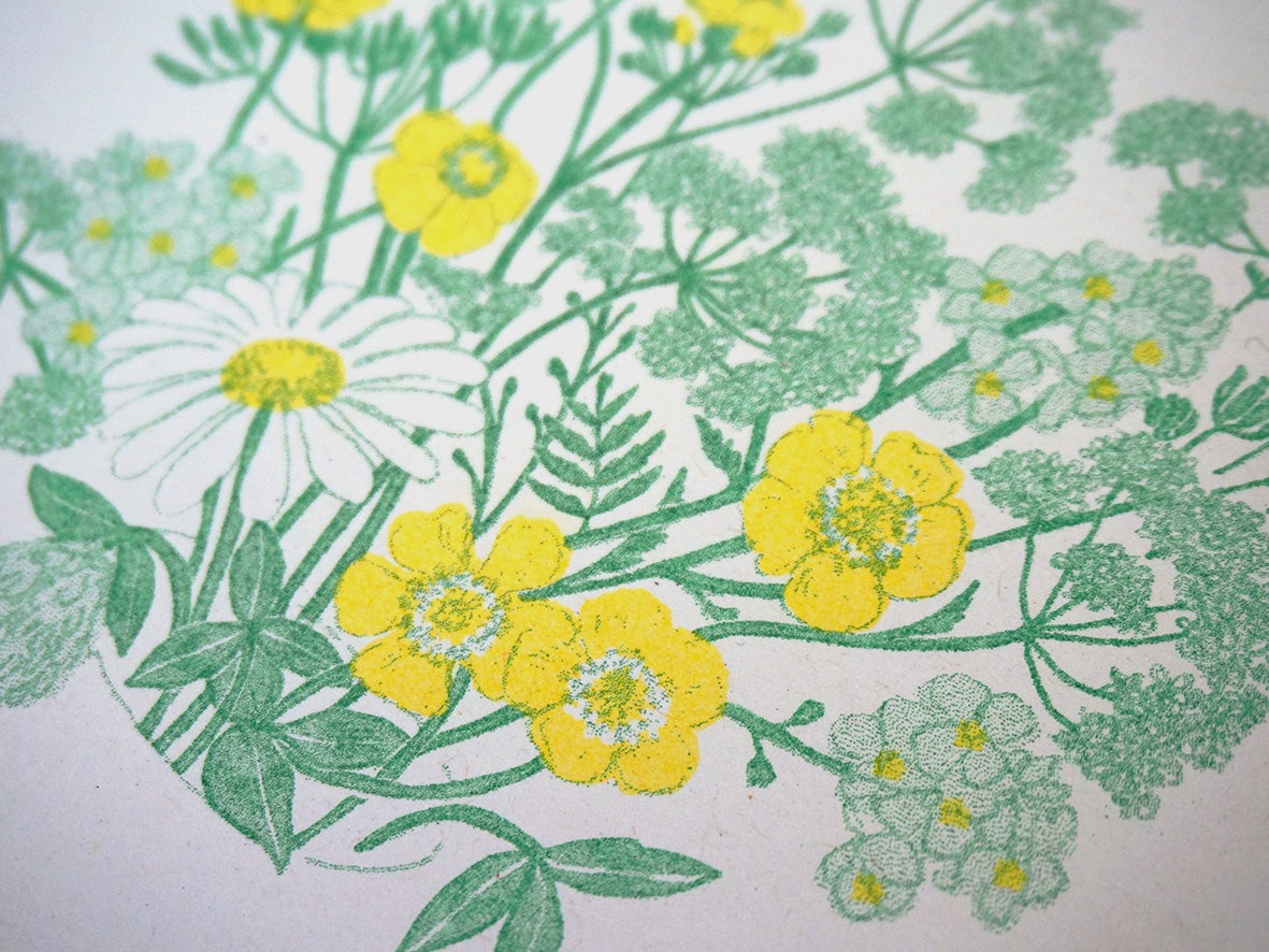 Image of Spring Flowers - Risograph Art Print