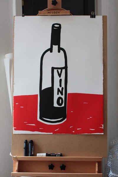 Image of Oversized print (80x60cm) - Vino - limited edition of 10