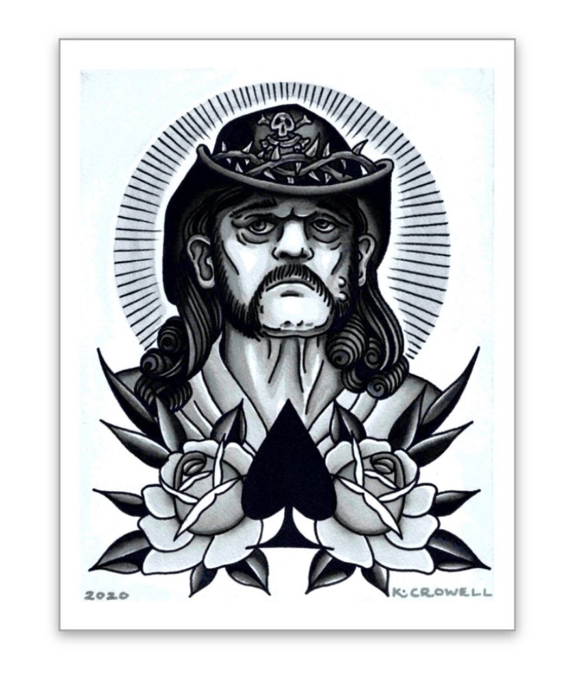 Image of Lemmy is God 8x10 print
