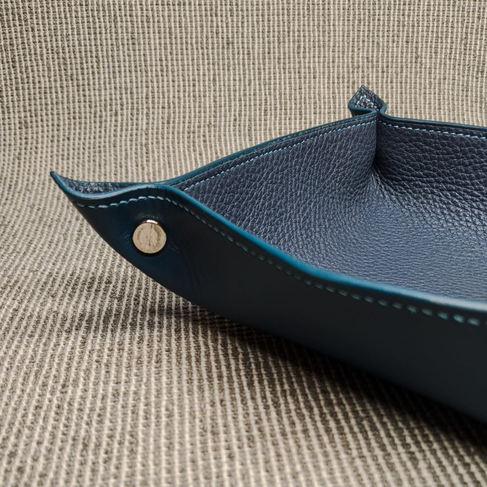 Image of VALET TRAY - Blue & Blue