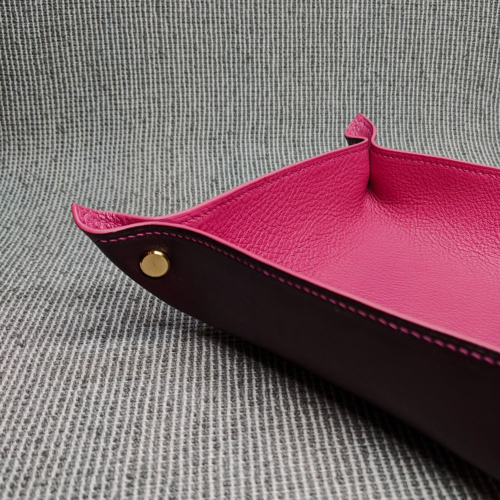 Image of VALET TRAY - Burgundy & Orchidia