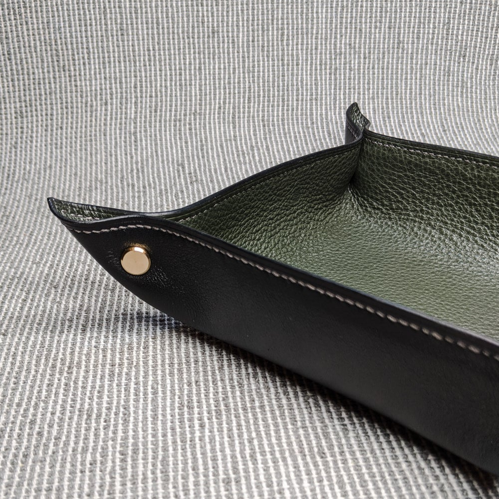 Image of VALET TRAY - Black & Loden