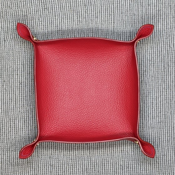 Image of VALET TRAY - Red & Red