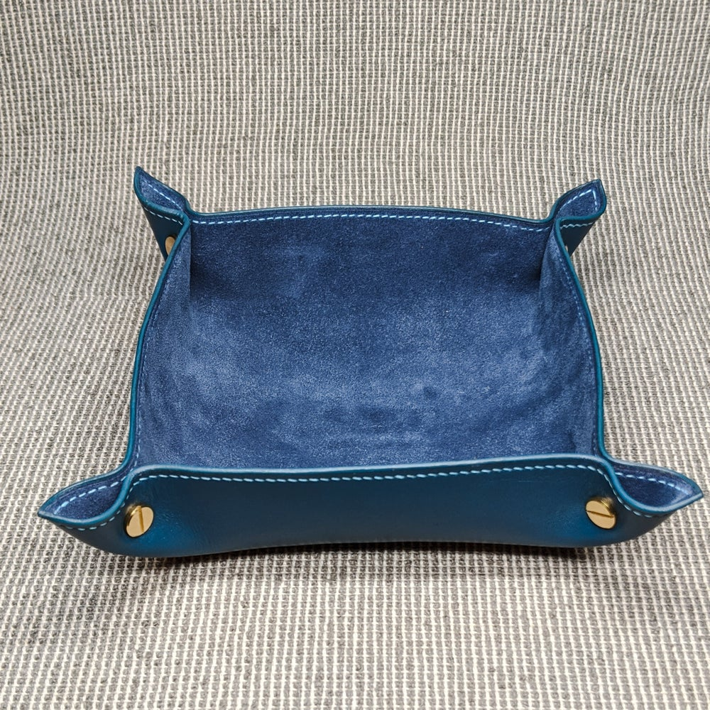Image of VALET TRAY - Blue & Blue Suede