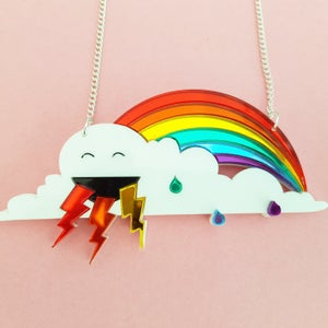 Image of Rainbow and Cloud Necklace