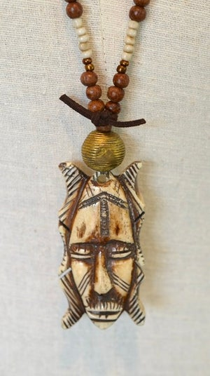 Tribal Mask Necklace