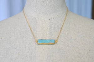 Turquoise Bar Necklaces