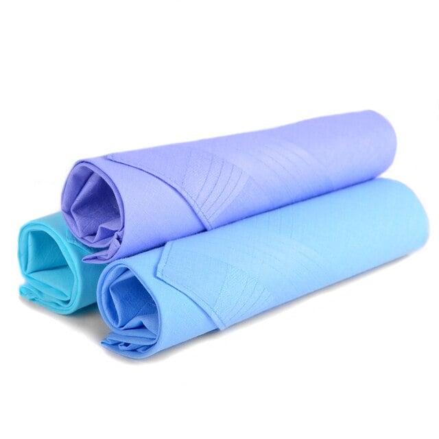 Men's Boxed Fancy Cotton Handkerchiefs 3pcs Set