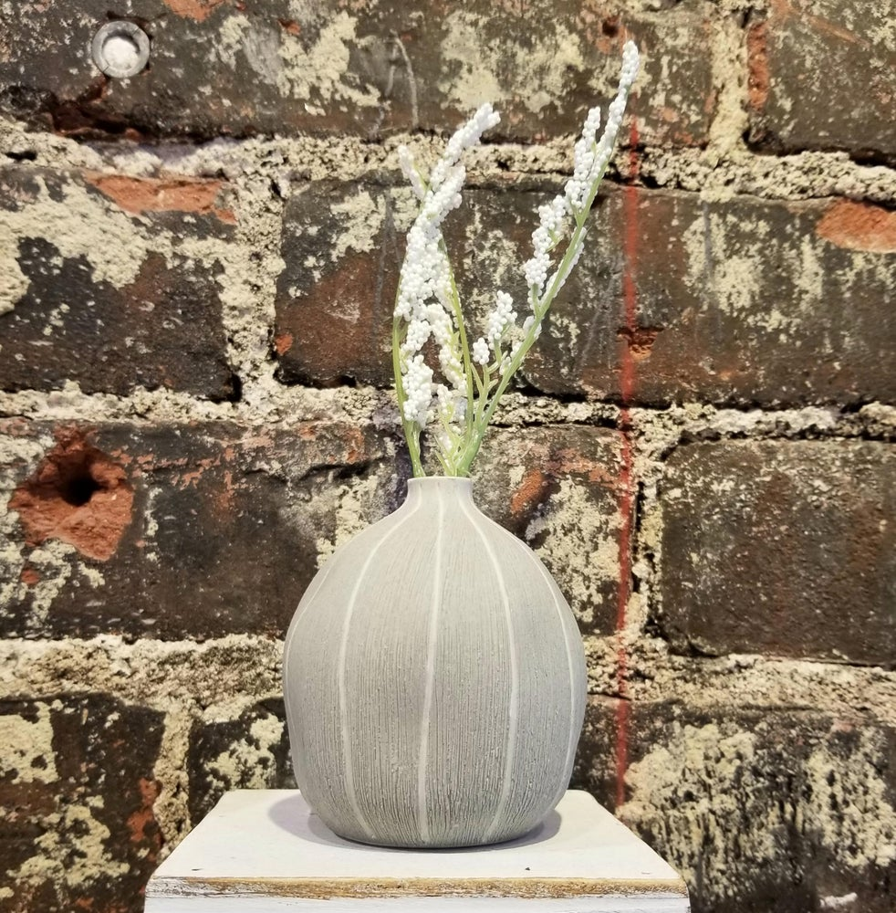 Image of Gray Stripe Small Seed Vase (Pick up only)