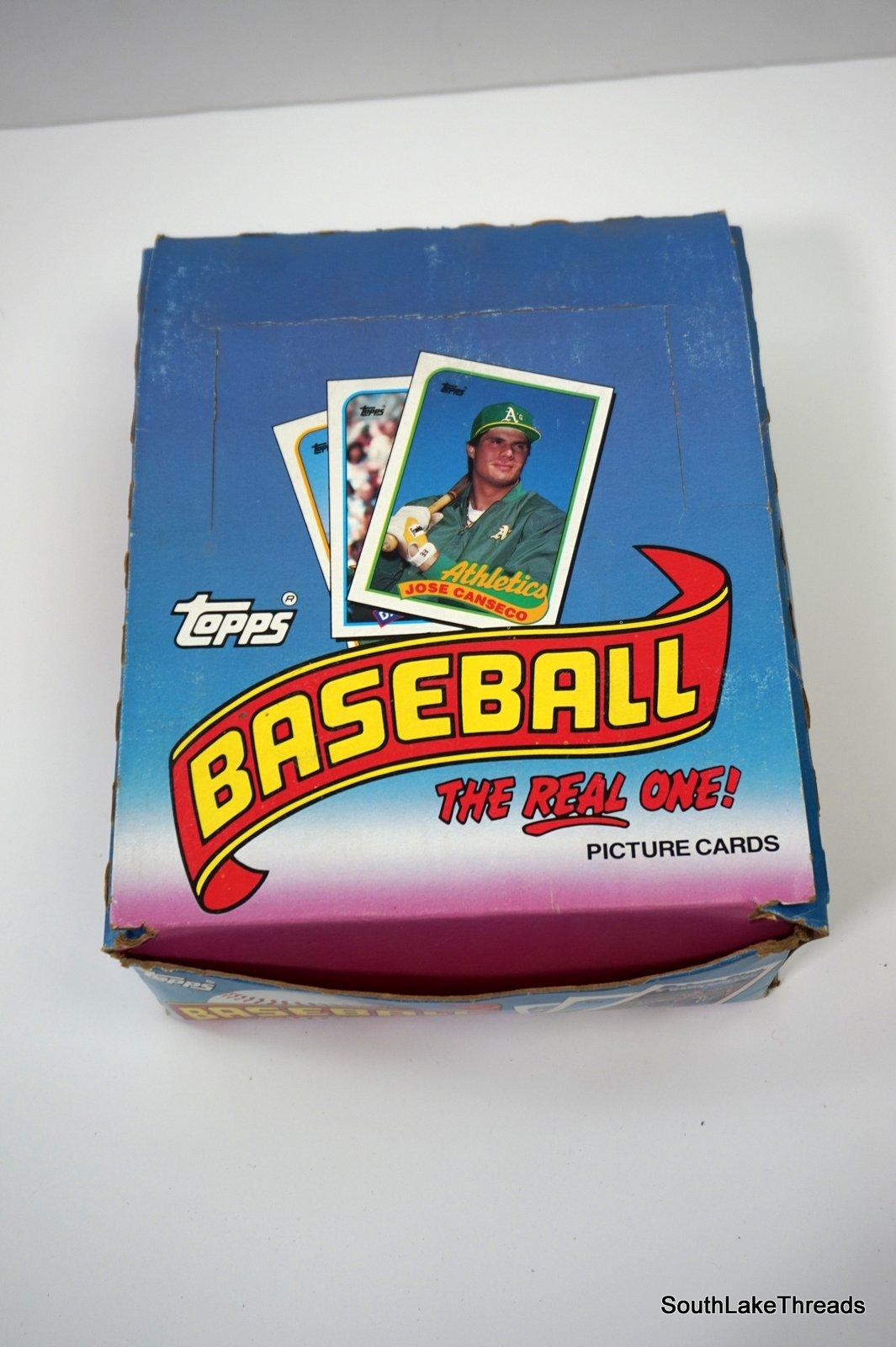1989 Topps Baseball Cello Wax Box (24 Ct) Cello Packs