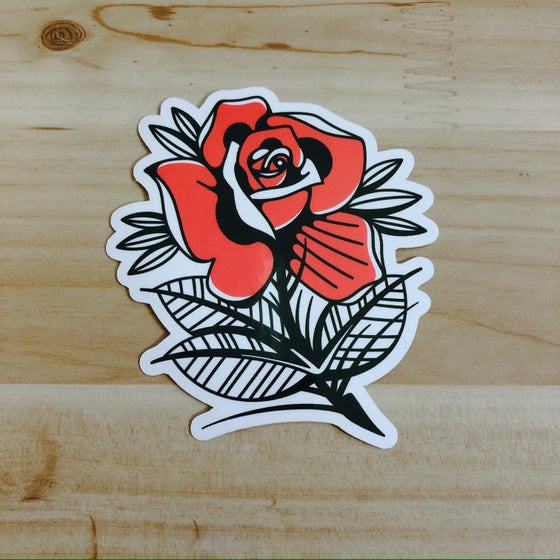 Image of Red Rose Sticker