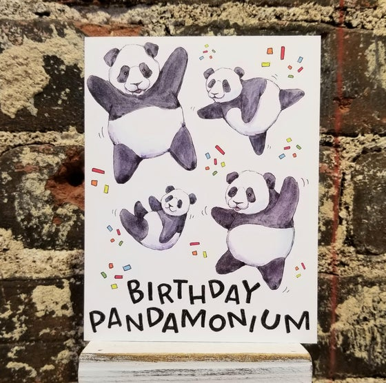 Image of Panda Birthday Card (Pick up or Add on only)