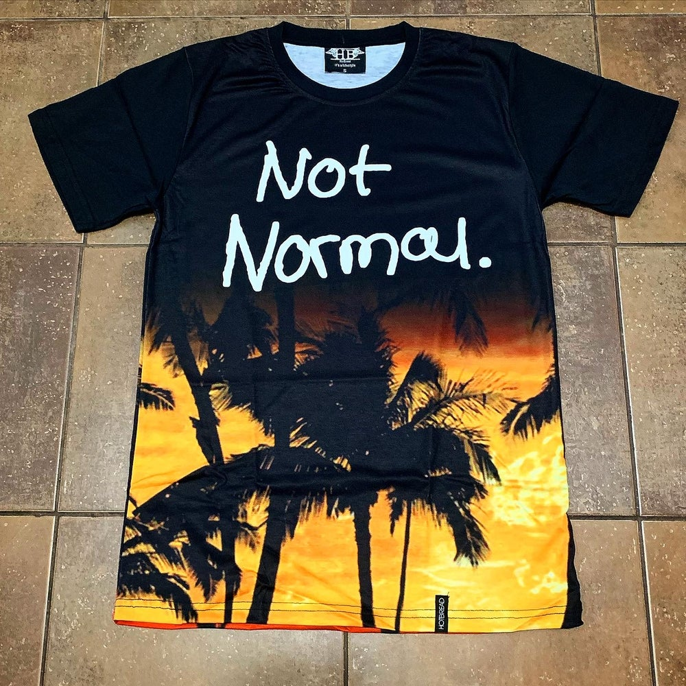 "Image of Not Normal ""Scarface"" Palm tree Tee"
