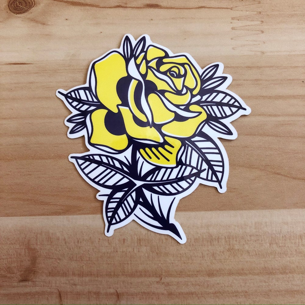 Image of Yellow Rose Sticker