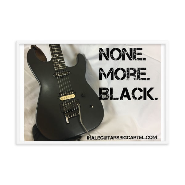 Image of None More Black framed photo poster