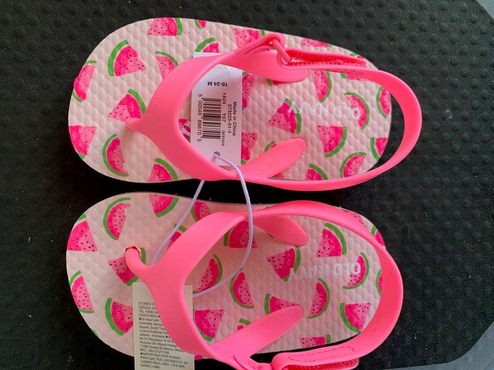 Image of Infant Watermelon flip flops