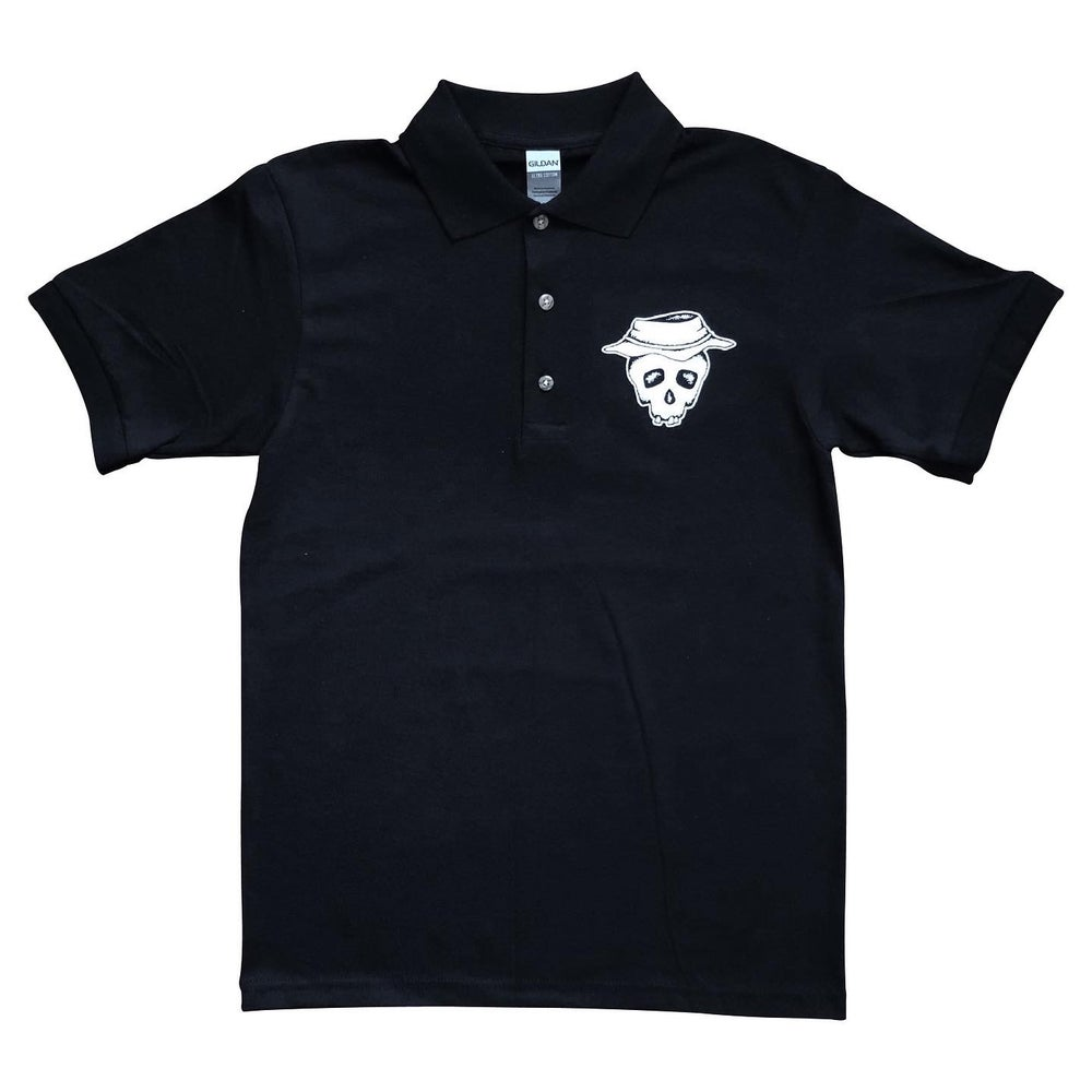 "Image of Black ""Booney Skull"" Polo"
