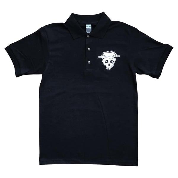 "Image of Black ""Booney Skull"" Polo"
