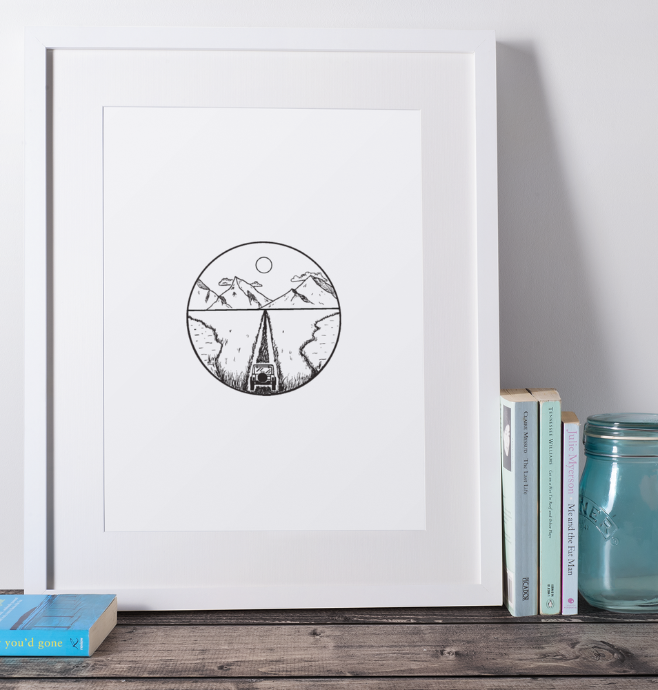 Image of Jeeping in the Mountains Print