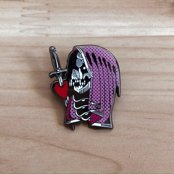 Image of Pink Death Hard Enamel Pin