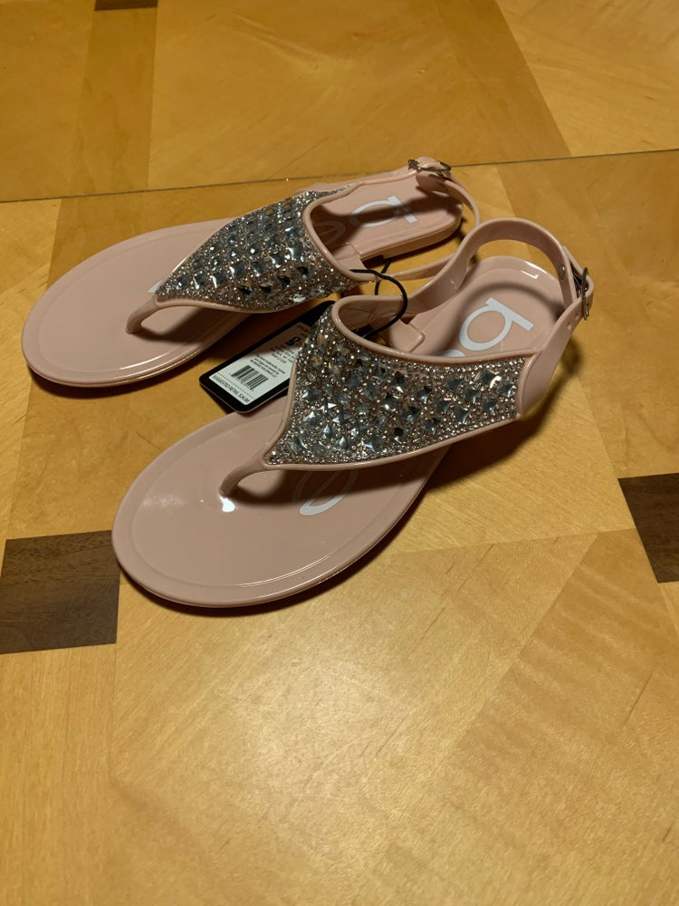 Image of Pale Pink Thong Sequence Sandal